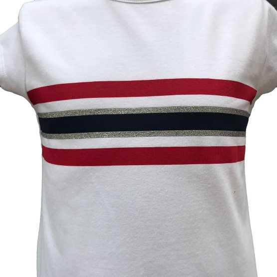 Detalle camiseta IDO conjunto 3 piezas sudadera roja capucha Real