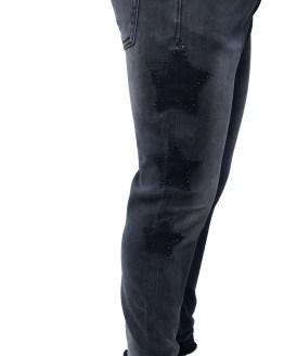 Visa IDO pantalón vaquero negro con estrellas