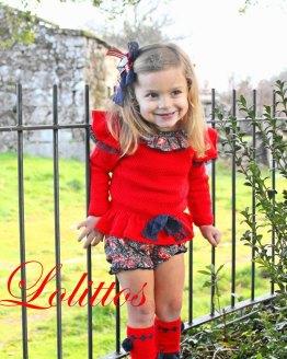 Catálogo Lolittos colección Cachemir conjunto jersey y cubre niña