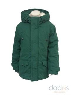 IDO chaquetón niño verde con capucha