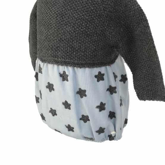 Micolino pelele estrellas con capota detalle