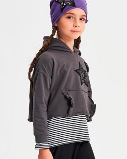 IDO sudadera gris con capucha