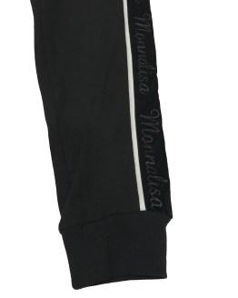 Monnalisa pantalón negro con logo lateral