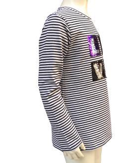 IDO camiseta rayas negras love