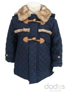 Coco Acqua chaquetón acolchado azul palos