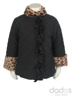 Coco Acqua chaquetón acolchado y animal print