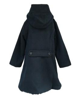 Espalda Coco Acqua abrigo paño azul marino vuelo