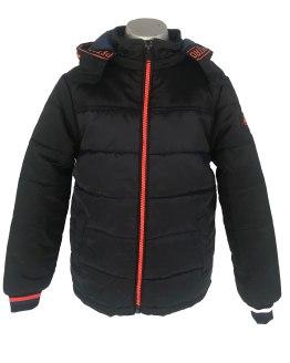 Petrol chaquetón bicolor con capucha