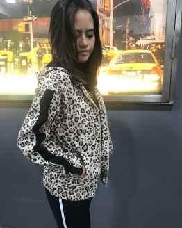 Marta Monnalisa chaqueta animal print con cremallera