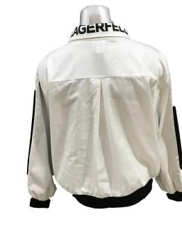 espalda Karl Lagerfeld sudadera mixta algodón tela