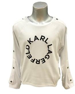 Karl Lagerfeld camiseta blanca chica logo redondo