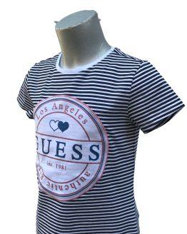 Detalle Guess camiseta chica rayas azules