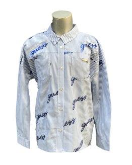 Guess blusa rayas celestes y blancas