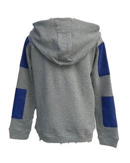 Espalda Guess sudadera chico gris y azulona