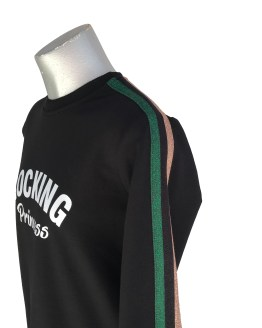 Detalle Jaimè vestido felpa negro rocking