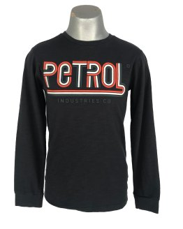 Petrol camiseta manga larga logo tricolor