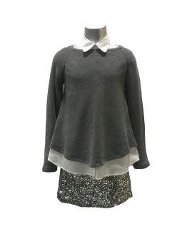 Propuesta look Elsy jersey gris punto milano