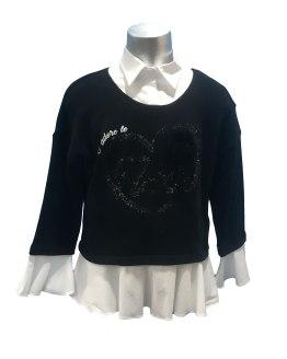 Elsy jersey-blusa negro con corazón