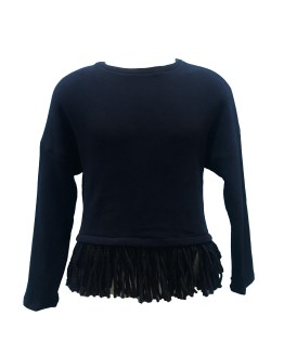 Elsy jersey azul con flecos