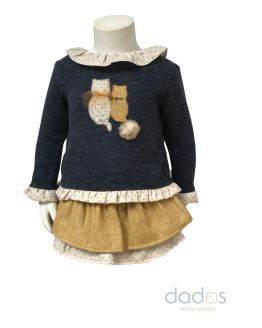 Coco Acqua jersey gatos y braga-falda