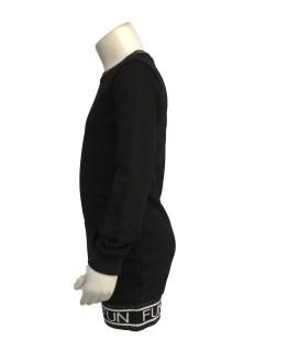 Vista Fun&Fun vestido negro con bolsillo delantero