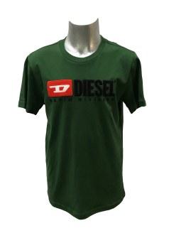 Verde Diésel camiseta logo relieve varios colores