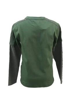 Cars Jeans camiseta gris y verde New York espalda