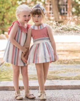 Catálogo Dolce Petit vestido rayas sin mangas y lazo en espalda