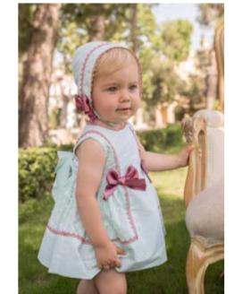 Catálogo Dolce Petit vestido y braguita verde agua