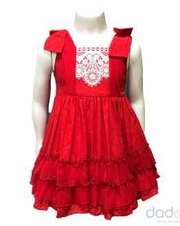 Dolce Petit vestido rojo con volantes