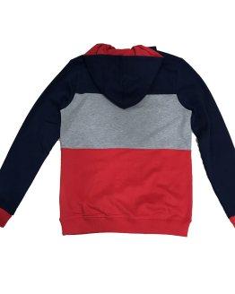 Espalda Guess sudadera tricolor capucha