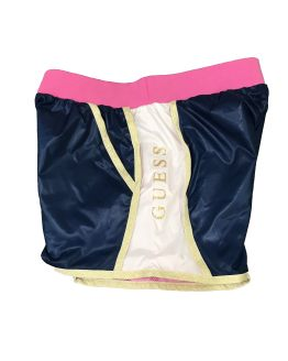 lateral Guess short active tricolor y dorado
