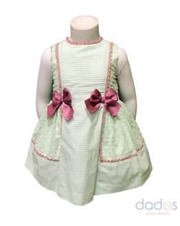 Dolce Petit vestido y braguita verde agua