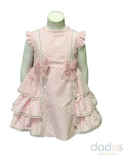 Dolce Petit vestido rosa de rayas