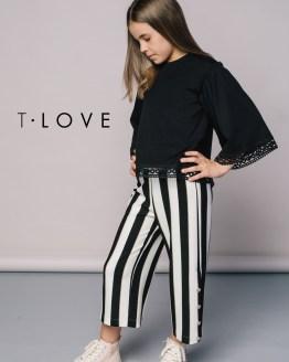 T-Love blusa algodón lycra negra catálogo