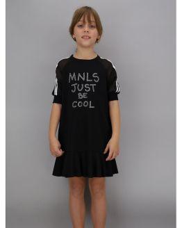 Catálogo Monnalisa vestido negro just be cool