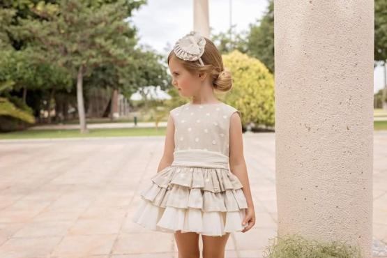 Dolce Petit vestido lunares espalda abierta catálogo
