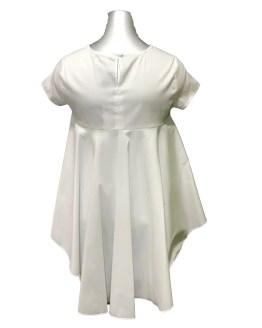 Elsy blusa blanca largo irregular espalda