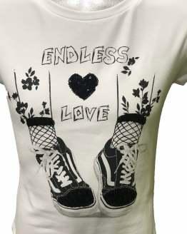 Elsy camiseta estampado zapatillas detalle