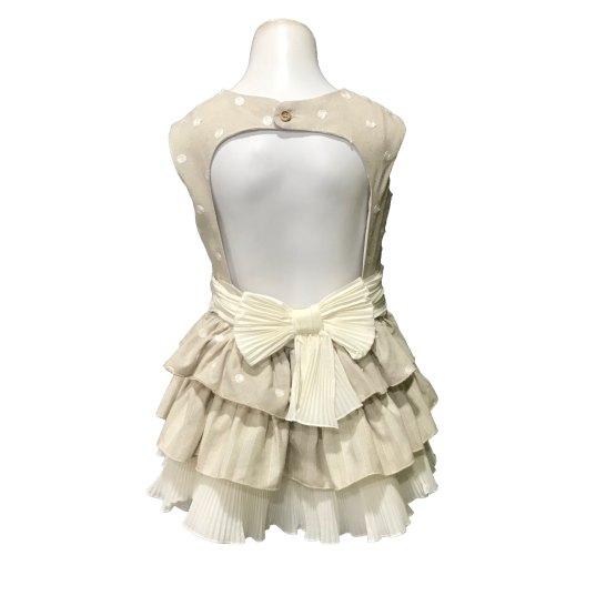 Espalda Dolce Petit vestido lunares espalda abierta