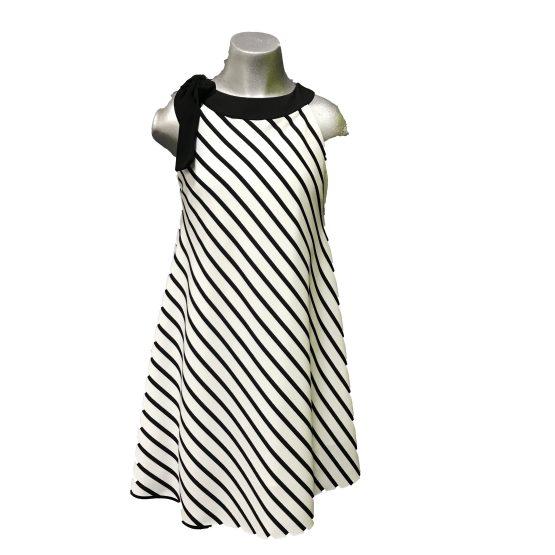 Elsy vestido de rayas y lazo en hombro