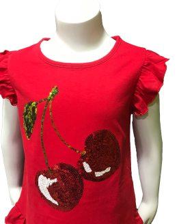 detalles IDO conjunto legging y camiseta cerezas