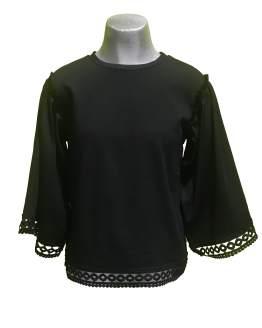 T-Love blusa algodón lycra negra