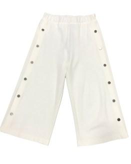 T-Love pantalón blanco botones dorados