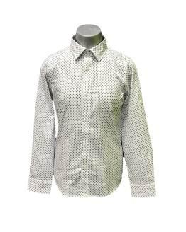 IDO camisa blanca con estampado topos