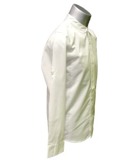 IDO camisa chico manga larga blanca vista lateral