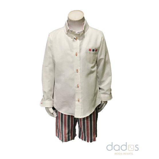 José Varón conjunto niño pantalón rayas y camisa