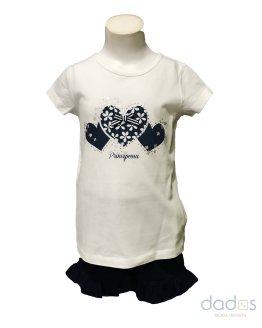 IDO conjunto short y camiseta corazones
