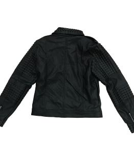 Espalda GUESS cazadora biker negra ecopiel