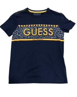 GUESS camiseta chico marino y amarillo